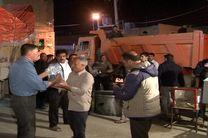 ارسال 5 دستگاه کامیون موادغذایی از شهرستان خمینی شهر به مناطق سیل زده در خوزستان