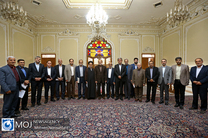 نشست دبیر و معاونین شورای عالی انقلاب فرهنگی با رییس مجلس