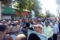 پیکر مطهر شهید مدافع حرم  در لنگرود  تشییع شد