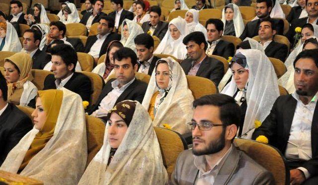 برگزاری مراسم ازدواج دانشجویی با حضور وزیر دفاع