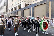 مراسم تشییع پیکر دو شهید گمنام با حضور امیر سیاری برگزار شد