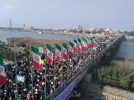 راهپیمایی ۲۲ بهمن در ۱۲۰ نقطه از خوزستان برگزار میشود