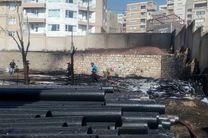 انبار جهاد کشاورزی کردستان در آتش سوخت