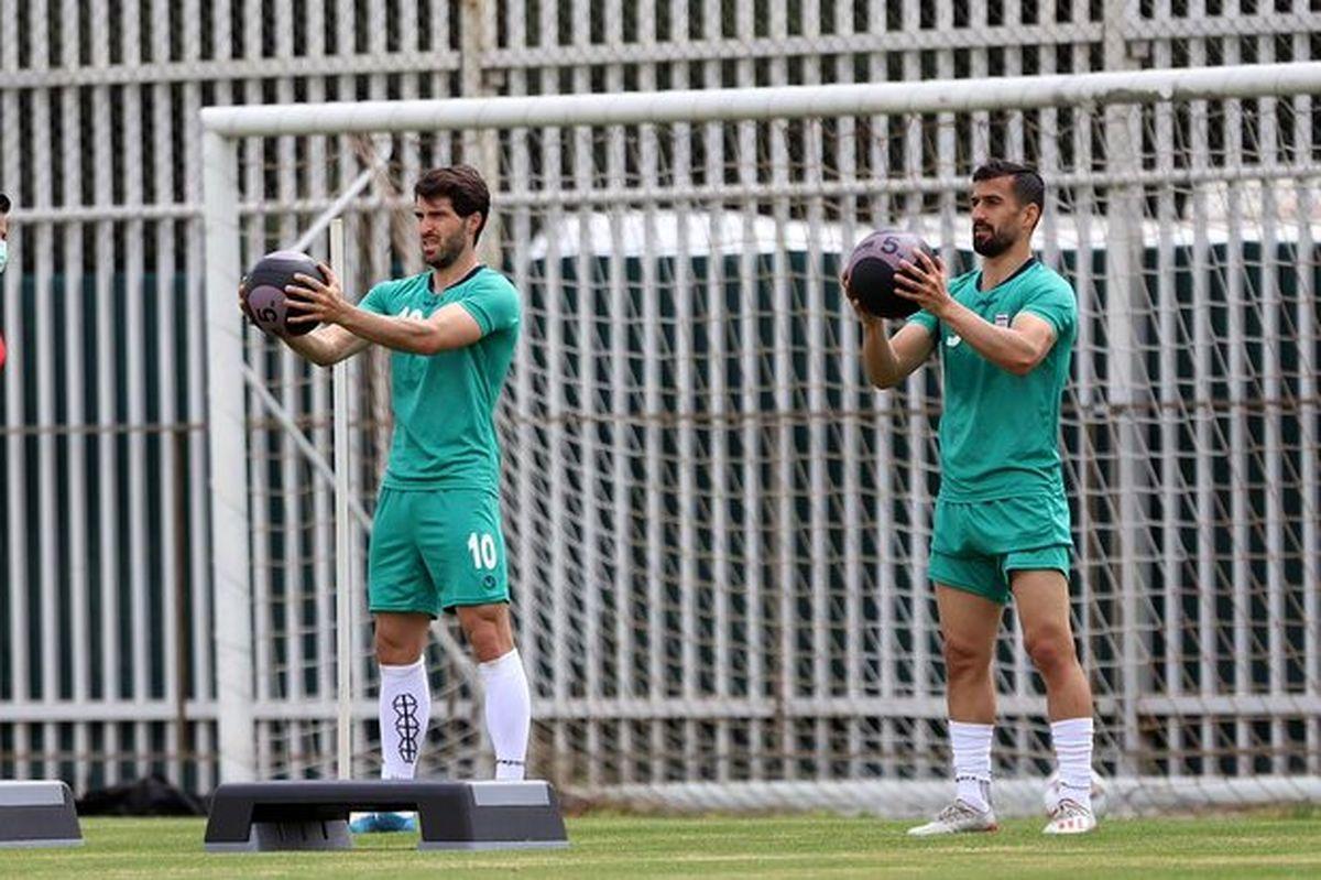 برگزاری نخستین تمرین تیم ملی فوتبال ایران در سال جدید