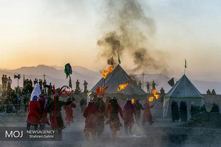 تعزیه خوانی ماجرای کربلا توسط نجف آبادی های اصفهان در نوش آباد کاشان
