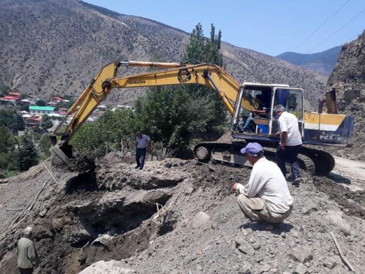 خسارت سیل به واحدهای کشاورزی سوادکوه