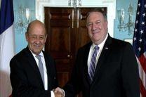 دیدار پمپئو و لودریان درباره مقابله با ایران