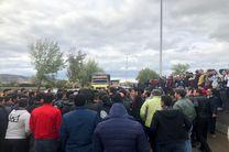 در اعتراض به گرانی بنزین کمربندی ساری به بهشهر بسته شد