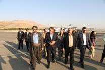 وزیر راه وشهرسازی وارد کردستان شد