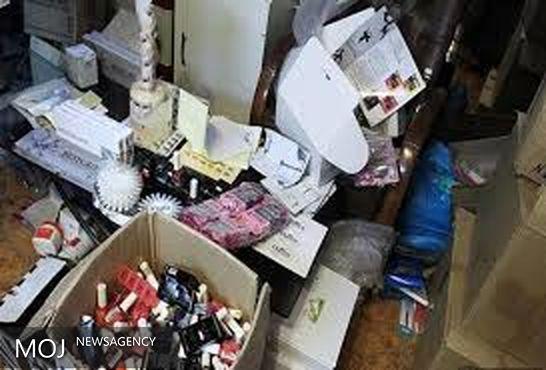 یک واحد تولیدی غیرمجاز لوازمآرایشی و بهداشتی در شهر نوسود پاوه کشف شد