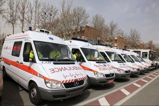 آماده باش بیش از 40 دستگاه آمبولانس اورژانس در روستای بیده سمیرم