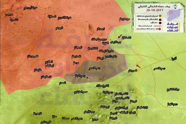 ارتش سوریه و متحدانش بر مناطق جدید در حومه حماه مسلط شد