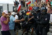 حمله پلیس آلمان به معترضان در شهر برلین
