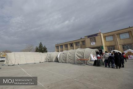 مانور بهداشت و درمان اضطراری هلال احمر در ورامین