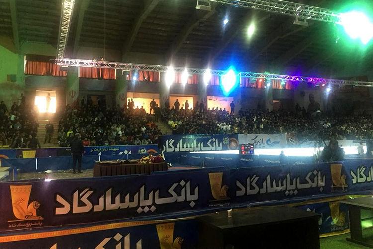 تقدیر از بانک پاسارگاد در مسابقات بینالمللی کشتی آزاد جام تختی در کرمانشاه
