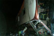 یک کشته و ۴۲ مصدوم در پی واژگونی اتوبوس مسافربری در هرمزگان