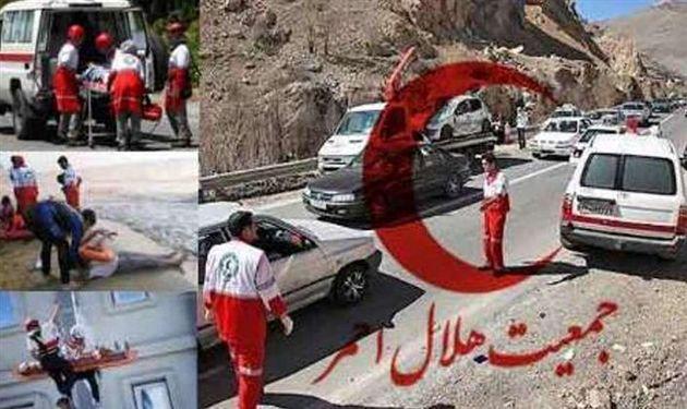 امدادرسانی امدادگران اصفهانی به 143 حادثه دیده در هفته گذشته