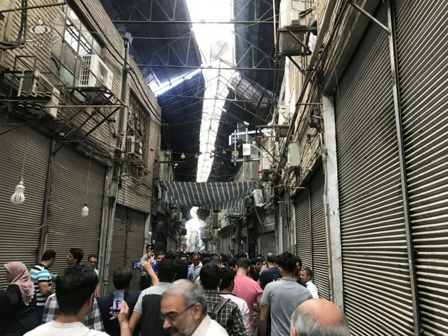 بازاریان تهران تجمع کردند/ پلیس در محل حضور یافت