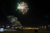 نورافشانی میادین شهر اصفهان در شب ۲۲ بهمن