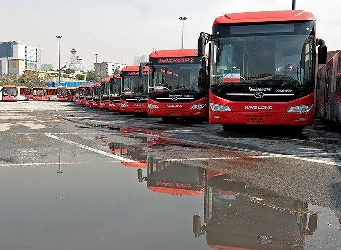 خدمت رسانی رایگان اتوبوس های درون شهری در شهرستان لنجان
