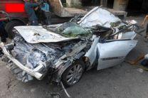 کشته و زخمی شدن 4 نفر بر اثر واژگونی خودرو سواری در رودسر