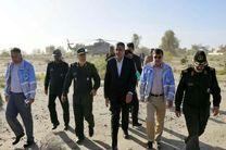 آغاز بازدید وزیر راه و شهرسازی از روستاهای سیل زده جاسک