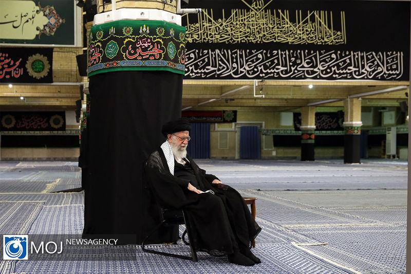 مراسم عزاداری شهادت امام سجاد (ع) با حضور رهبر انقلاب برگزار شد
