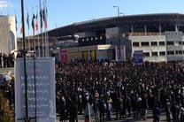 تجمع اعتراضی دانشجویان به واژگونی اتوبوس دانشگاه آزاد