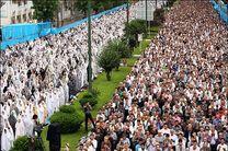 اقامه نماز با شکوه عید فطر در رشت