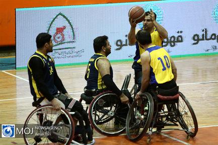 دیدار تیم های بسکتبال با ویلچر شهروند آمل و هیات خوزستان