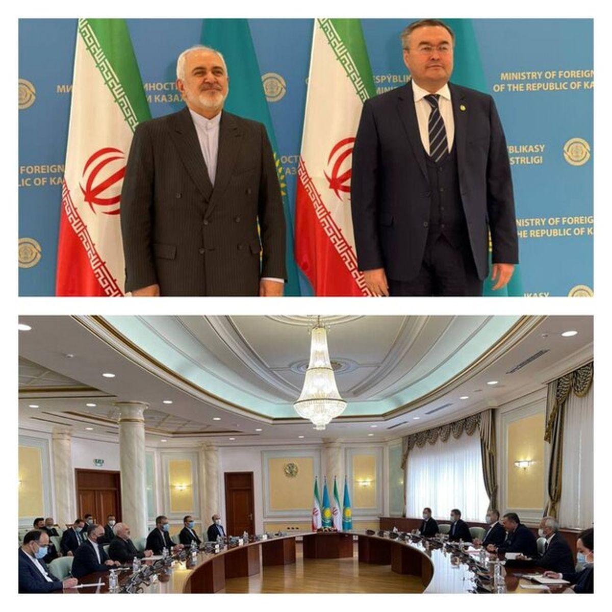 ظریف با همتای قزاقستانی خود دیدار کرد