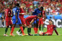 رونالدو با گریه از یورو ۲۰۱۶ خداحافظی کرد