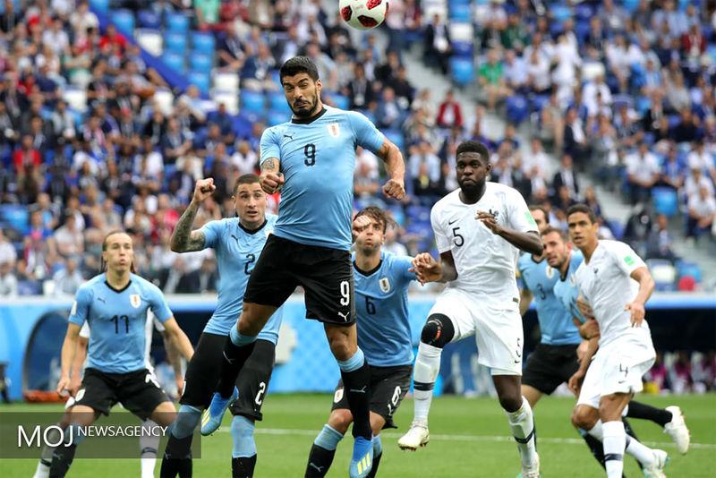 نتیجه بازی فرانسه و اروگوئه در جام جهانی/ فرانسه اولین تیم حاضر در نیمه نهایی