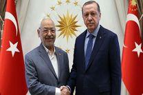 مذاکره رهبر جنبش النهضه تونس با اردوغان پشت درهای بسته