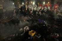 آتش سوزی در کمپ پناهجویان در حومه پاریس