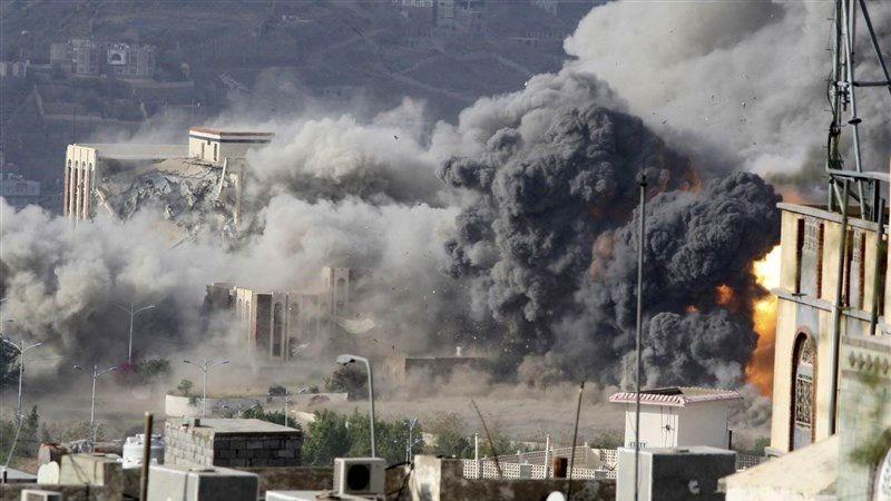 حمله جنگندههای سعودی به صعده یمن