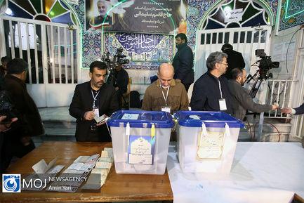 حضور پرشور مردم در انتخابات یازدهمین دوره مجلس در مسجد النبی (ص)
