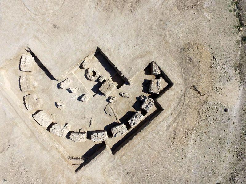 پایان  فصل چهارم کاوشهای باستانشناسی در نیایشگاه ساسانی