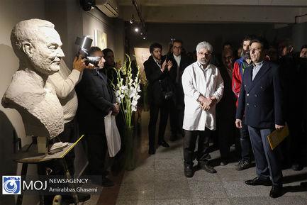 افتتاح دوازدهمین جشنواره هنرهای تجسمی فجر-سردیس شهید سلیمانی-صبرعلی لوایی