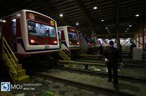 ورود ۲ رام قطار به ناوگان مترو تهران