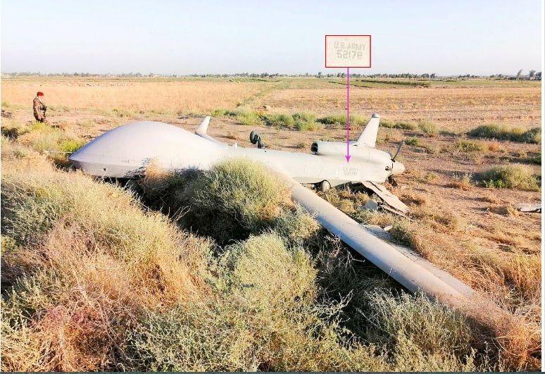 پهپاد جاسوسی آمریکا در شمال غرب بغداد سرنگون شد