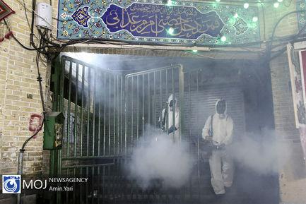 عملیات ضد عفونی سازی امامزاده صالح و بازار تجریش