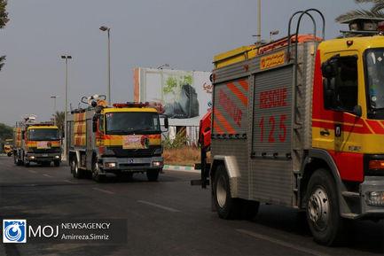تقدیر از آتش نشانان در جزیره کیش
