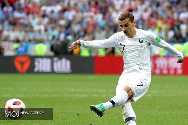 برتری فرانسه مقابل اروگوئه در نیمه نخست