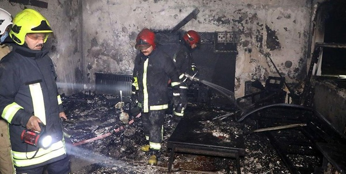 انفجار و آتش سوزی یک مجتمع مسکونی در مشهد