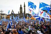 تظاهرات مردم اسکاتلند برای جدایی کشورشان از انگلیس
