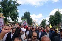 راهپیمایی روز جهانی قدس در شهر رشت برگزار شد/ نمایش انسجام اعلام انزجار از رژیم صهیونیستی