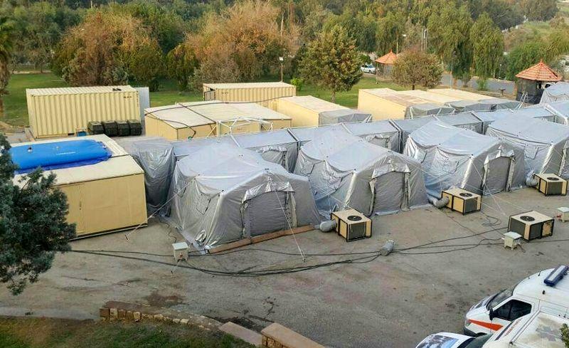 اولین تیم امداد و درمان هرمزگان در منطقه زلزله زده غرب کشور مستقر شد