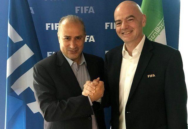 مهدی تاج با رئیس فدراسیون جهانی فوتبال دیدار کرد