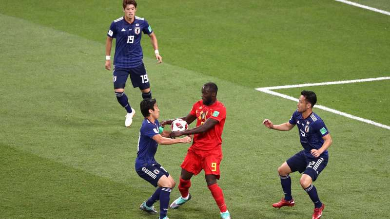 تساوی بدون گل بلژیک و ژاپن در نیمه نخست